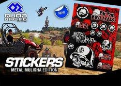 4MX Racing Parts  Sticker Set Metal Mulisha