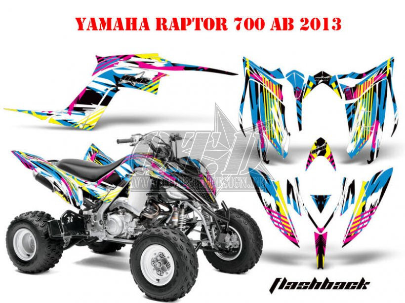 AMR RACING DEKOR GRAPHIC KIT ATV YAMAHA RAPTOR 125/250/350/660/700 ...